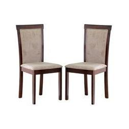 Baxton Studio Set of Two Judy Modern Dining Chair, Dark Brow