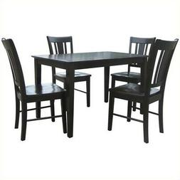 International Concepts 5 Piece Shaker Dining Set in Rich Moc