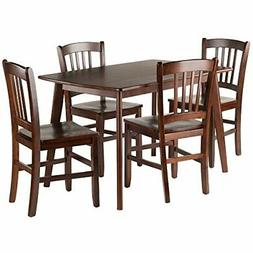 Winsome Wood Shaye 5-PC Set Dining Table w/ Slat Back Chairs