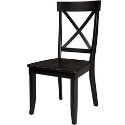 Home Styles Side Dining Chairs - Set of 2, Black