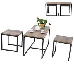 SKB family 3 Piece Nesting Coffee & End Table Set Wood Moder