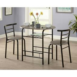 Small Dining Table Set Bistro 3 Piece Farm Dinette Kitchen N