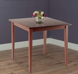 Small Kitchen Dining Table Wood Espresso Square Compact 30""