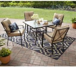 Small Patio Set Outdoor Dining Furniture 5 Piece Chairs Tabl