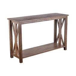 Sofa Table - Solid Wood Rustic Farmhouse Style Console Table
