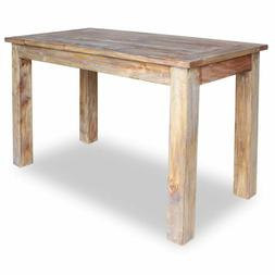 "vidaXL Solid Reclaimed Wood Dining Table 47.2"" Rustic Dining"