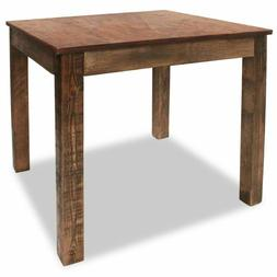 Solid Reclaimed Wood Dining Table Kitchen Rectangular Wood D