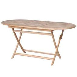 solid teak dining table 63 x31 5