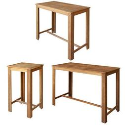 vidaXL Solid Wood Bar Table 3 Sizes Counter Kitchen Dining B
