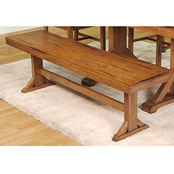 Solid Wood Dining Bench in Antique Brown Finish-5 Feet Wide,