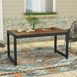 solid wood dining table outdoor patio 56