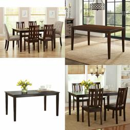 Solid Wood Dining Table Rectangular 6 Person Classic Dining