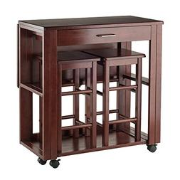 3Pc Space Saver Set in Walnut Finish