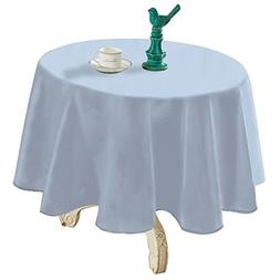 YEMYHOM Spill-Proof Fabric Round Tablecloth for Dining Room,