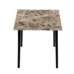 SLEEPLACE Square Dining Table with Faux Marble Top, Crema Ca