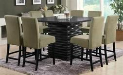 Coaster Stanton Contemporary Square Counter Height Dining Ta