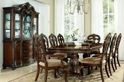 STATELY FORMAL RECTANGULAR DINING TABLE & 8 CHAIRS DINING RO
