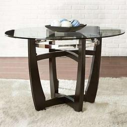 Strick & Bolton Holland 48-inch Glass Top Dining Table