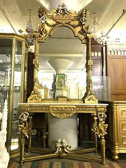STUNNING!!! Cupid Console Table With Marble Top And Cupid Mi