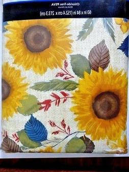 Mainstays Sunflower Tablecloth Vinyl 60 x 84 Chloride-Free P