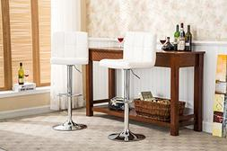 Roundhill Swivel PU Leather Adjustable Hydraulic Bar Stool,