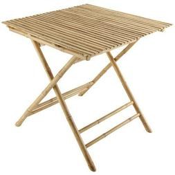 ZEW TA-241 Bamboo Collapsible Square Table
