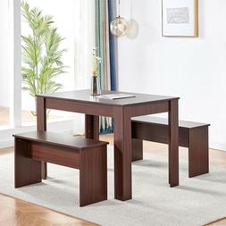 Table & Chair Dining Table and Bench Set Kitchen Office Dini