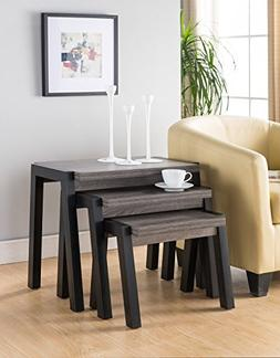 Top Modern Set of 3 Pieces End Tables