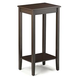 Topeakmart Tall Side Coffee End Table Solid Wood Nightstand