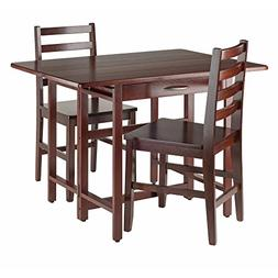 Winsome Wood Taylor 3-PC Set Drop Leaf Table W/ Ladder Back
