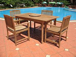 5pc Exclusive Teak Wood Patio Dining Set