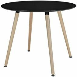 Track Circular Dining Table in Black