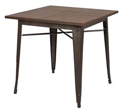 Poly and Bark Trattoria Dining Table in Bronze / Elmwood