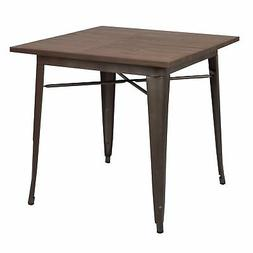 Poly and Bark Trattoria Dining Table in Elmwood / Bronze