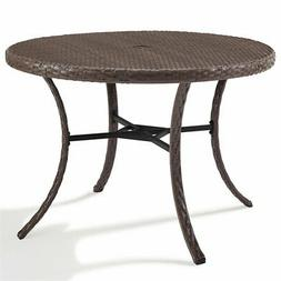 "Crosley Furniture Tribeca 42"" Round Wicker Patio Dining Tabl"