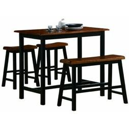 Tyler 4-piece Counter Height Table Set By Crown Mark Furnitu