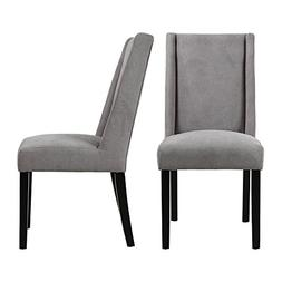 LSSBOUGHT Upholstered Fabric High Back Dining Chairs, Set of