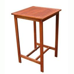 VIFAH V495T Dartmoor Outdoor Wood Bar Table