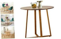 VECELO Kitchen Dining Round Solid Wood Coffee Tables Office
