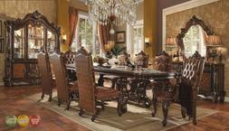 "Versailles 120"" Traditional Cherry Oak Parquet Pattern Dinin"