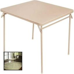 "Cosco 34"" Vinyl Top Folding Table, Multiple Colors"