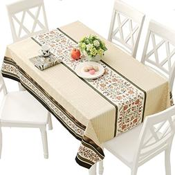 vinyl tablecloth rectangle wipe clean