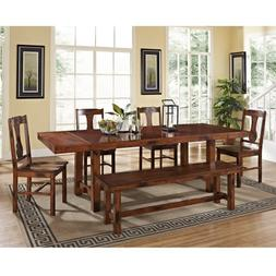 W.Designs Huntsman 6-pc. Dark Oak Solid Wood Dining Set
