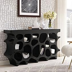 Modway Wander Medium Stand In Black - Modern Console Table F
