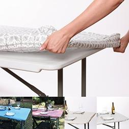 Tablecloth for 6ft folding table -Fitted Rectangular Table C