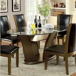 Furniture of America Waverly Oval Dining Table in Brown Cher