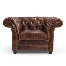 Westminster Chesterfield Leather Chair by Rose & Moore