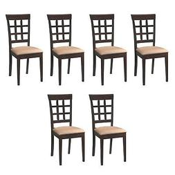 Coaster Home Furnishings Wheat Side Dining Room Chair w/Fabr