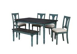 Willow 6 Piece Dining Set - Teal - Powell