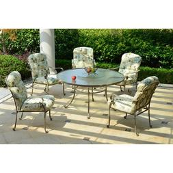 Mainstays Willow Springs 6-Piece Patio Dining Set with Lazy